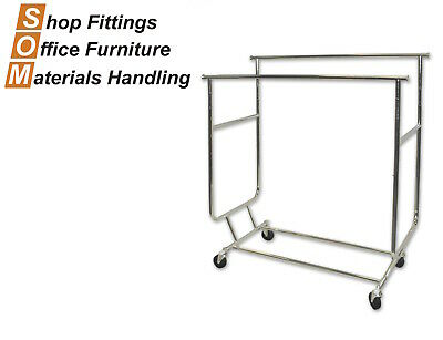Double Salesman Rack Collapsible Clothing Display Stand