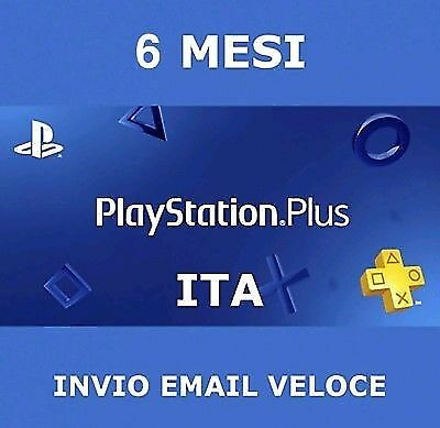 PS Plus PSN PlayStation Plus 6 mesi(+1 MESE GRATIS) 5€!!! PS4 abbonamento