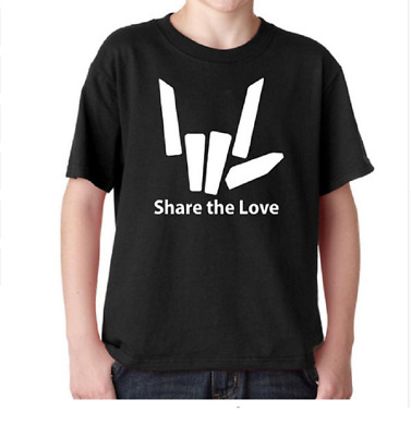 Youth share love T-shirt of various colors black / white shirt Yutuber Stephen S