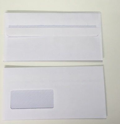 DL ENVELOPES SELF SEAL WHITE 90 gsm  WITH WINDOW 10-20-30-40-50-100