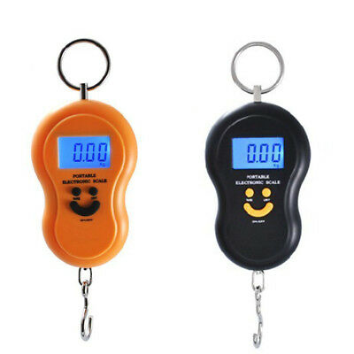 Portable 50kg/5g Mini LCD Digital Fish Hanging Luggage Weight Hook Travel Scale