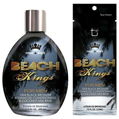 Tan Incorporated Beach Kings for Men Black Bronzer sunbed tanning lotion cream