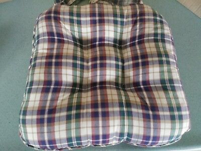 Longaberger Chair Pad in Woven Traditions Plaid pattern  NEW