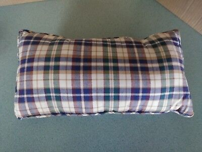 Longaberger Throw Pillow in Woven Traditions Plaid rectangle shape NEW