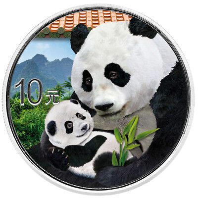 Silber Panda 2019 30 Gramm g Silver Argent China Chinese in Farbe farbig Colour