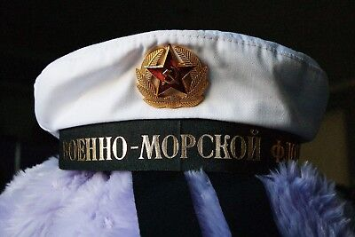 Genuine Russian USSR Navy Marine Uniform Beret Hat Dress Up Party present