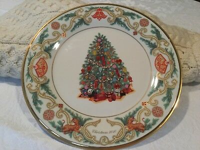New Lenox  2016 Annual Limited Edition Christmas Trees Around World Plate China