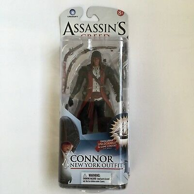 """Assassin's Creed III 3 Connor New York Outfit Action Figure """"NEW"""" SEALED RARE"""