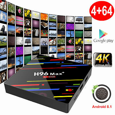 H96 MAX  4GB 32/64GB Android 8.1.0 Oreo Smart TV BOX Quad Core WIFI 4K USB 3