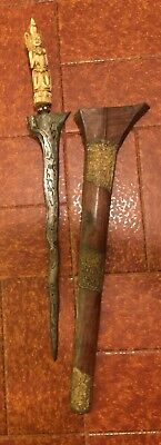 Antique Bali Indonesian Dagger Kris Keris Rare Original Buddha