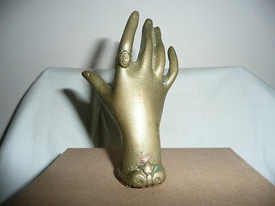 Unusual Vintage Small&Heavy Hot Cast Bronze,Young Lady Hand,Sculpture,H10cm.