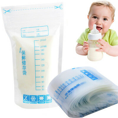 30/60/90/120Pcs 250ml Seal Breast Milk Storage Bags Feeding Breast Hot