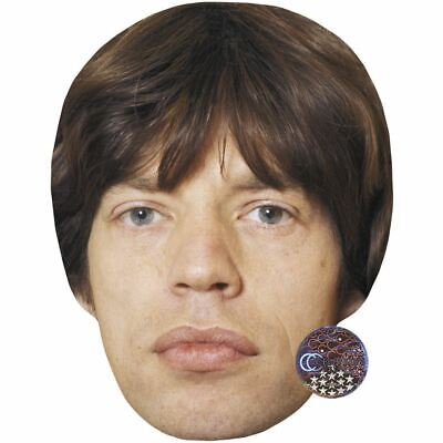 Mick Jagger (Young) Maske aus Pappe