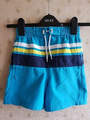 Nice Boy's George Blue & Multi Colour Stripe Pocket Swim Shorts, size 5-6 years