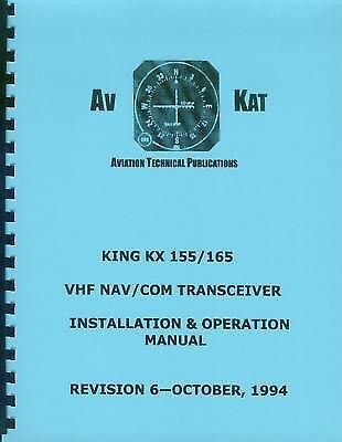 King Kx 155 / Kx 165   Nav/com Installation Manual