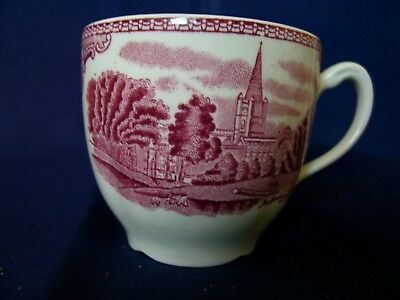 Johnson Bros Old Britain Castle Pink Flat Cup