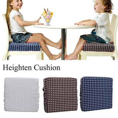 Adjust High-density Sponge Linen Baby Child Dining Chair Heightening Cushion NEW