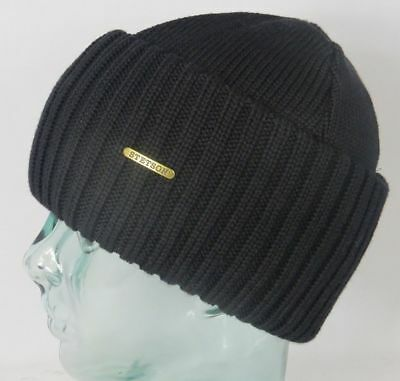 2a038a32ec4 Stetson Knit Cap Beanie Northport Woolly Hat Black Winter Hat Pull on New