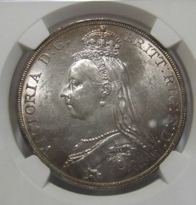 1889 Great Britain Crown NGC MS62 Uncirculated Beautiful English Victoria Silver