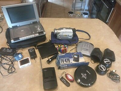 Joblot Of Electrical Items Including Protable Dvd Player Camcorder Etc
