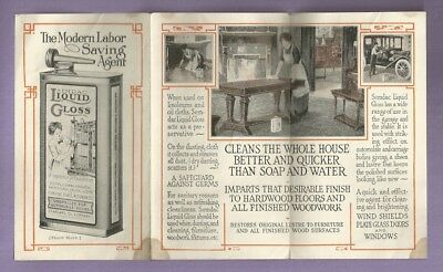 Vintage Pamphlet SEMDAC LIQUID GLOSS FURNITURE AUTOMOBILE CARRIAGE POLISH