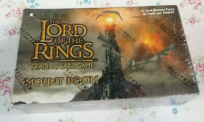 LORD OF THE RING TCG Mount Doom 36 Booster Packs Box! NEW! SEALED!