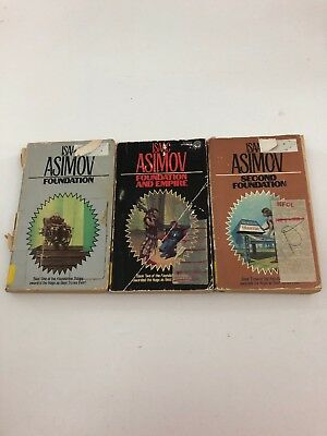 Lot of 3 - The Foundation Trilogy - Isaac Asimov (Paperback)