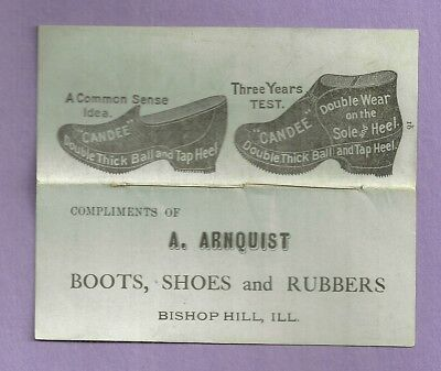 Vintage Advertising Story Book A ARNQUIST BISHOP HILL ILL. CANDEE BOOTS RUBBERS