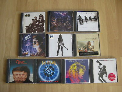 CD Sammlung (Hard) Rock: Queen Def Leppard Billy Idol Robert Plant Bryan Adams..