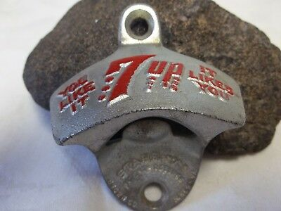 Vintage 7 Up stationary Starr X mounting bottle opener-You Like It-It Likes You