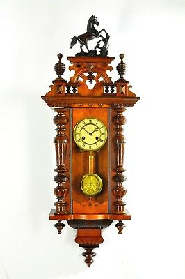 Antique German Junghans Spring Driven Wall Clock approx.1900 Germany