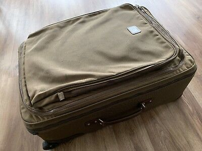 """Andiamo Made In USA Olive Green Luggage 28"""" Wheeled Upright Pullman Suitcase"""