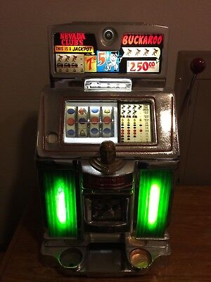 1963 Jennings 5 Cent Nevada Club Continental Buckaroo Slot Machine