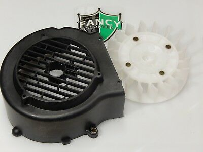 Gy6 157Qmj Engine Fan & Cover For 150Cc Scooters Taotao,roketa,jonway,jcl,sunny