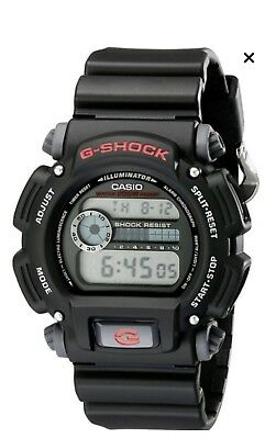 Casio G Shock Mens 49 mm Classic Red And Black