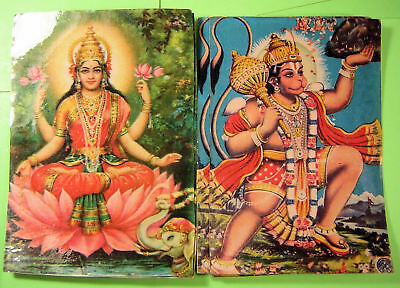 Postcards Hindu God and Goddesses pictures 11 different, 26 total from India