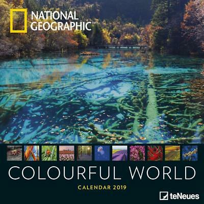 National Geographic Colourful World 2019 Uk Square Wall Calendar Official