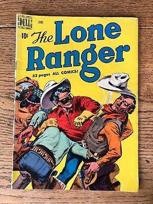 3 vintage The Lone Ranger #10 (1949, Dell) #16  #24 : Golden Age Western Comics