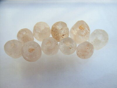 10 Ancient Neolithic Rock Crystal Beads, Stone Age TOP!