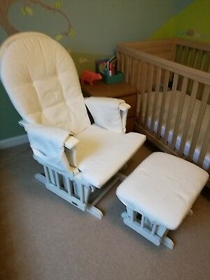 Serenity White Nursing Glider Maternity Chair