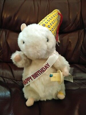 Gemmy Dancing Singing Hamster Pet Sings Happy Birthday Song Dances with Tags