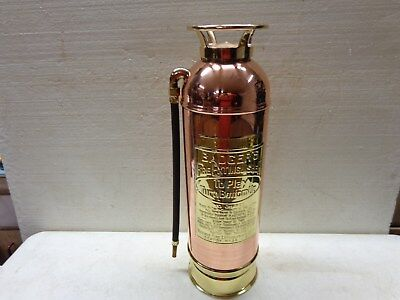 Badgers Brass Based Copper Fire Extinguisher Polished And Lacquered