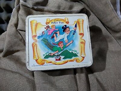 Peter Pan`1969`Walt Disney's,Aladdin Industries,Metal Lunchbox & Thermos