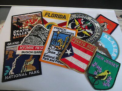 Group of United States Souvenir Patches  Group 3