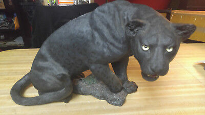 Livingstone black panther leopard retired statue large endangered species store