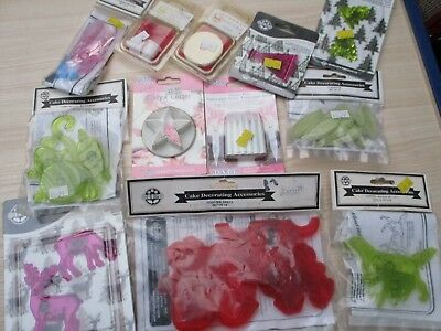 cake decorating cutters job lot old shop stock sealed/unused lot 9