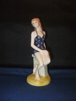 Royal Doulton Rare   Figurine  Taking The Waters