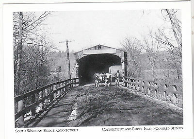 "*Postcard-""South Windham Bridge""  *Connecticut & RI Covered Bridges (16-CT)"