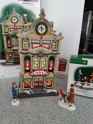 dept 56 christmas in the city Topsy's Toys plus Window shoppers