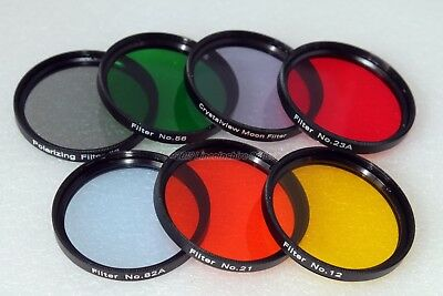 """Olivon 2"""" colour and Moon filter set (50.8mm). Ex-demo. UK seller UK stock Boxed"""